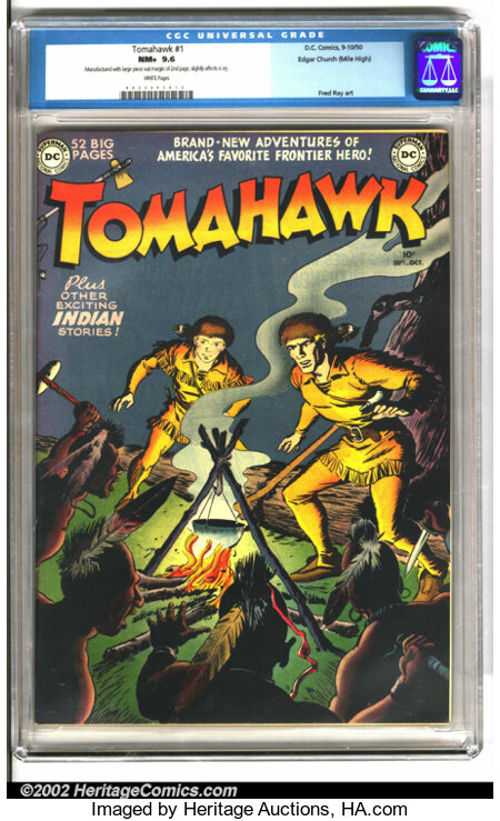 Tomahawk #1 Mile High pedigree (DC, 1950). This issue presents a rare opportunity. Key issues from the Mile High collection ...