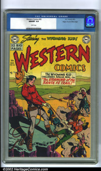 Western Comics #26 Mile High pedigree (DC, 1951). A near flawless specimen from this famous collection, exhibiting white...