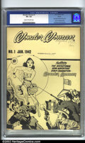 Golden Age (1938-1955):Superhero, Wonder Woman Ashcan #1 (DC, 1942). Ever since their discoveryseveral years ago, the DC ashcans have caused a sensation in t...