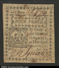 Colonial Notes:Connecticut, October 11, 1777, 4d, Connecticut, CT-216, CU. There are a few ...