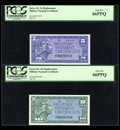 Military Payment Certificates:Series 611, Series 611 5¢; 10¢ Replacements PCGS Gem New 66PPQ. ... (Total: 2 notes)