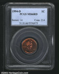 Lincoln Cents: , 1994-D 1C MS66 Red PCGS. ...