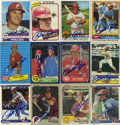 Autographs:Sports Cards, Pete Rose Signed Trading Cards Lot of 20. The reigning Hit King ofMajor League baseball brings us a splendid collection o...