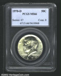 Kennedy Half Dollars: , 1970-D 50C MS66 PCGS. Mintage: 2,150,000. The latest Coin Worl...