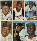 Baseball Cards:Sets, 1964 Topps Giants Baseball Complete Set (60). Seven of the cards in this 60-card set, including Sandy Koufax and Willie Mays...