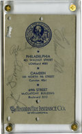 Autographs:Letters, Joe DiMaggio Signed Schedule. The pencil signature of Hall of Famelegend Joe DiMaggio can be found on a vintage pocket sch...