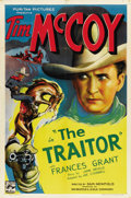 "Movie Posters:Western, The Traitor (Puritan, 1936). One Sheet (27"" X 41"")...."