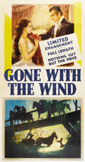 "Movie Posters:Academy Award Winner, Gone with the Wind (MGM, 1939). Three Sheet (41"" X 81"")...."