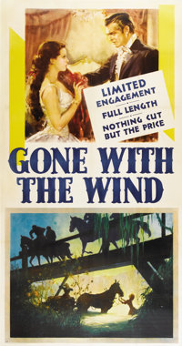 """Gone with the Wind (MGM, 1939). Three Sheet (41"""" X 81"""")"""