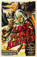 "Movie Posters:Science Fiction, Lost Planet Airmen (Republic, 1951). One Sheet (27"" X 41"")...."