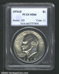 Eisenhower Dollars: , 1974-D $1 MS66 PCGS. Mintage: 45,517,000. The latest Coin Worl...