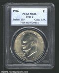 Eisenhower Dollars: , 1976 $1 Type Two MS66 PCGS. Mintage: 113,318,000. The latest C...