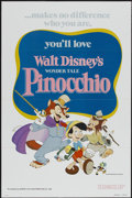 "Movie Posters:Animated, Pinocchio (Buena Vista, R-1978). One Sheet (27"" X 41"") Tri-Folded. Animated...."