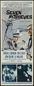 """Movie Posters:Crime, Seven Thieves (20th Century Fox, 1959). Insert (14"""" X 36""""). Crime...."""