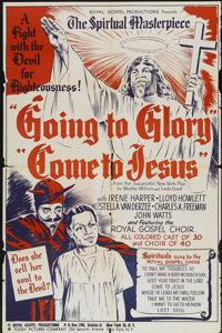 """Going to Glory, Come to Jesus (Toddy Pictures, 1946). One Sheet (27"""" X 41""""). Black Films"""