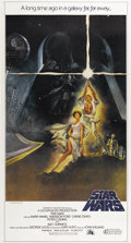 "Movie Posters:Science Fiction, Star Wars (20th Century Fox, 1977). Three Sheet (41"" X 76.5"")...."