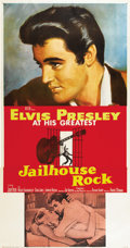 "Movie Posters:Elvis Presley, Jailhouse Rock (MGM, 1957). Three Sheet (41"" X 81"")...."