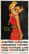 """Movie Posters:Romance, The Prince and the Showgirl (Warner Brothers, 1957). Three Sheet (41"""" X 81"""")...."""