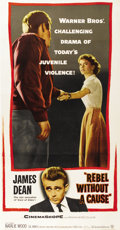 "Movie Posters:Drama, Rebel Without a Cause (Warner Brothers, 1955). Three Sheet (41"" X81"")...."