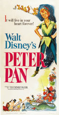 "Movie Posters:Animated, Peter Pan (RKO, 1953). Three Sheet (41"" X 81"")...."
