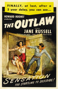 """Movie Posters:Western, The Outlaw (United Artists, R-1949). One Sheet (27"""" X 41"""")...."""