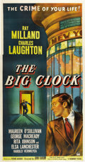 "Movie Posters:Film Noir, The Big Clock (Paramount, 1948). Three Sheet (41"" X 81"")...."