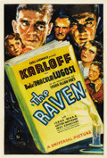 "Movie Posters:Horror, The Raven (Universal, 1935). One Sheet (27"" X 41"") Style D...."