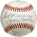 Autographs:Baseballs, 500 Home Run Club Multi-Signed Baseball. Excellent example ofperhaps the most-desirable theme collectible in the hobby -- ...