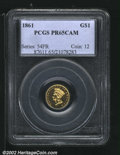 Proof Gold Dollars: , 1861 $1 PR 65 Cameo PCGS. The current Coin Dealer Newslette...