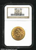 Liberty Eagles: , 1888-S $10 MS61 NGC. Mintage: 648,700. ...