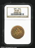"""Liberty Eagles: , 1890 $10 MS60 NGC. Mintage: 57,900. The latest Coin World """"Tre..."""