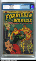 Golden Age (1938-1955):Science Fiction, Forbidden Worlds #2 (All-American, 1951). The CGC label lists thisas issue #1, but this is an error, as this is actually #2...