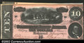 Confederate Notes:1864 Issues, 1864 $10 Horses pulling Cannon; R.M.T. Hunter on right, T-68, 1...