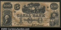 Obsoletes By State:Louisiana, 18-- $100 Canal Bank, New Orleans, LA, CU. This note appears to...