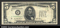 Error Notes:Obstruction Errors, Fr. 1962-F $5 1950A Federal Reserve Note. Very Fine. A majo...