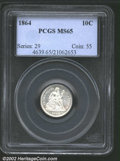 Seated Dimes: , 1864 10C MS65 PCGS. Mintage: 11,000. ...