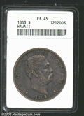 Coins of Hawaii: , 1883 $1 Hawaii Dollar XF45 ANACS. Mintage: 500,000. ...