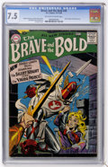 Silver Age (1956-1969):Adventure, The Brave and the Bold #20 (DC, 1958) CGC VF- 7.5 Off-white to white pages....