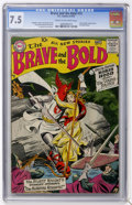 Silver Age (1956-1969):Adventure, The Brave and the Bold #13 (DC, 1957) CGC VF- 7.5 Cream to off-white pages....