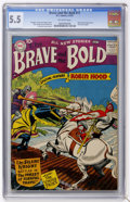 Silver Age (1956-1969):Adventure, The Brave and the Bold #11 (DC, 1957) CGC FN- 5.5 Off-white pages....