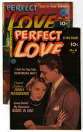 "Golden Age (1938-1955):Romance, Perfect Love #8 and 10 (#1) Group - Davis Crippen (""D"" Copy)pedigree (Ziff-Davis, 1952-53).... (Total: 2)"