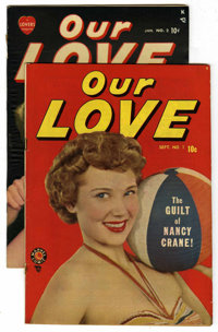 "Our Love #1 and 2 Group - Davis Crippen (""D"" Copy) pedigree (Marvel, 1949-50).... (Total: 2)"