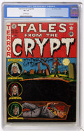 Golden Age (1938-1955):Horror, Tales From the Crypt #28 (EC, 1952) CGC VF- 7.5 Off-white pages....