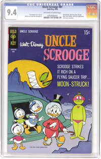 Uncle Scrooge #81 (Gold Key, 1969) CGC NM 9.4 Off-white to white pages. UFO cover and story. The Beagle Boys and Gyro Ge...