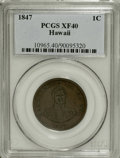Coins of Hawaii: , 1847 1C Hawaii Cent XF40 PCGS. PCGS Population (6/272). NGC Census:(0/135). Mintage: 100,000. (#10965)...