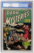 Golden Age (1938-1955):Horror, Dark Mysteries #12 (Master Publications, 1953) CGC VG+ 4.5 Cream tooff-white pages....