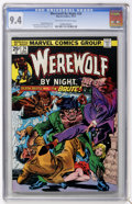Bronze Age (1970-1979):Horror, Werewolf by Night #24 (Marvel, 1974) CGC NM 9.4 Off-white to whitepages....