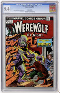 Bronze Age (1970-1979):Horror, Werewolf by Night #17 (Marvel, 1974) CGC NM 9.4 White pages....