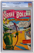 Golden Age (1938-1955):Miscellaneous, The Brave and the Bold #5 (DC, 1956) CGC FN- 5.5 Cream to off-white pages....