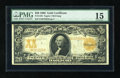 Large Size:Gold Certificates, Fr. 1183 $20 1906 Gold Certificate PMG Choice Fine 15. This is a better Friedberg number among the $20 Golds and it has ligh...